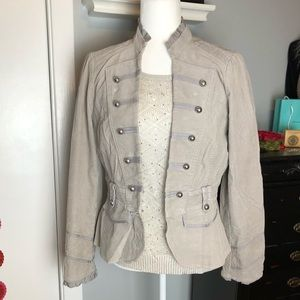 Cropped WH/BM Military Style Jacket